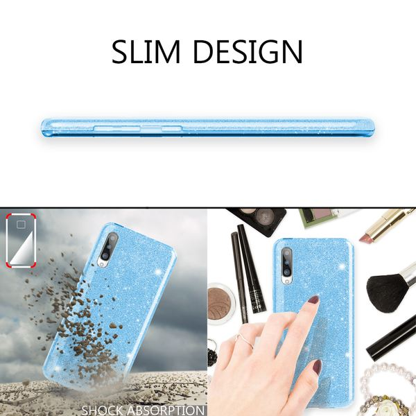 NALIA Glitzer Hülle kompatibel mit Samsung Galaxy A70, Diamant Schutzhülle Glitter Case Bling Cover Silikon Handyhülle Dünn, Ultra-Slim Phone Backcover Handy-Tasche Diamond Bumper Etui – Bild 6