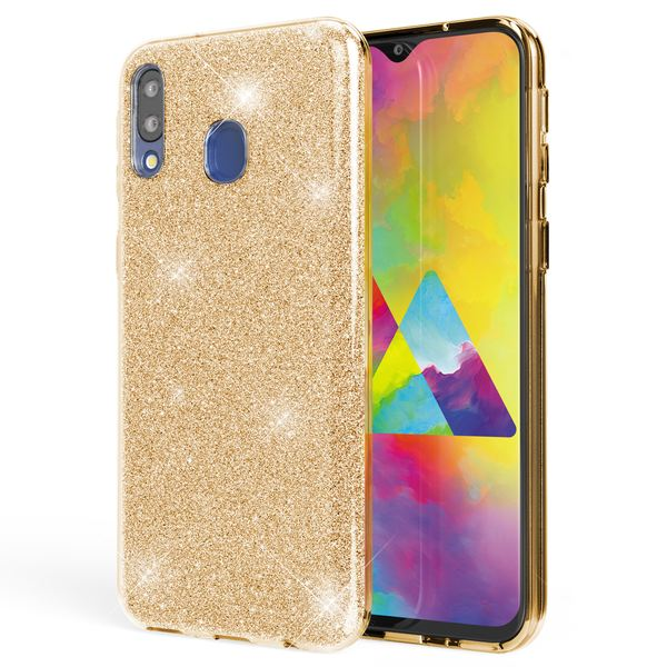 NALIA Glitzer Hülle kompatibel mit Samsung Galaxy M20 2019, Diamant Schutzhülle Glitter Case Bling Cover Handyhülle Dünn, Ultra-Slim Phone Backcover Handy-Tasche Diamond Bumper Etui – Bild 14