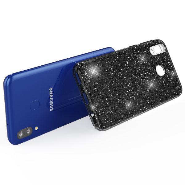 NALIA Glitzer Hülle kompatibel mit Samsung Galaxy M20 2019, Diamant Schutzhülle Glitter Case Bling Cover Handyhülle Dünn, Ultra-Slim Phone Backcover Handy-Tasche Diamond Bumper Etui – Bild 6
