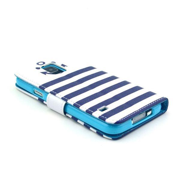 NALIA Klapphülle kompatibel mit Samsung Galaxy S5 S5 Neo, Hülle Slim Flip-Case Kunst-Leder Vegan, Phone Etui Schutzhülle Book-Case, Dünne Vorne Hinten Handy-Tasche Wallet Bumper - Anchor Edition – Bild 5