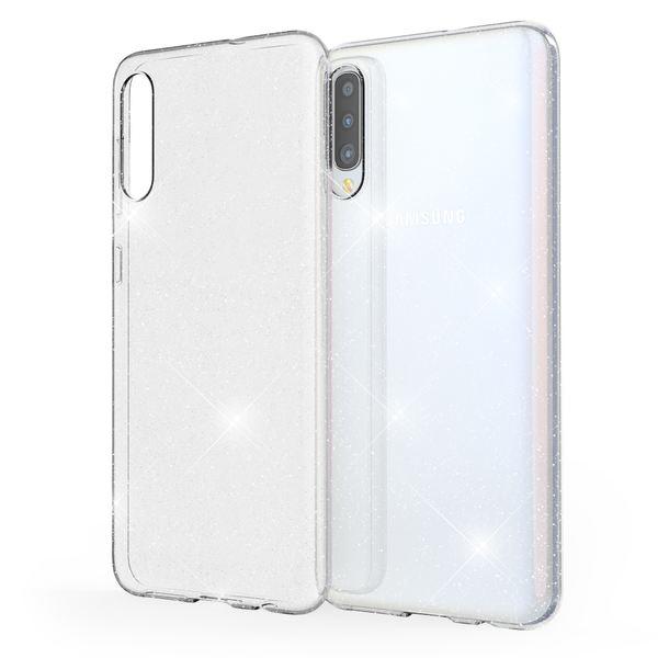 NALIA Glitzer Hülle kompatibel mit Samsung Galaxy A50, Ultra Slim Handyhülle Silikon Glitter Case Cover Durchsichtig, Handy-Tasche Schutzhülle Glänzend Phone Etui Bumper Backcover – Bild 1