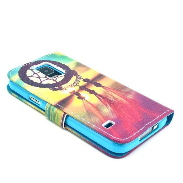 NALIA Klapphülle kompatibel mit Samsung Galaxy S5 S5 Neo, Hülle Slim Flip-Case Kunst-Leder Vegan Phone Etui Schutzhülle Book-Case, Dünne Vorne Hinten Handy-Tasche Wallet - Sunset Dreamcatcher Edition – Bild 5