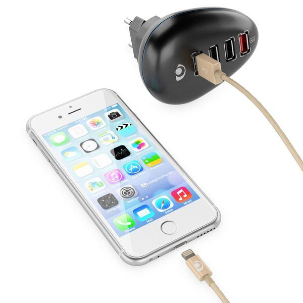 NALIA 1m USB Ladekabel, Nylon Sync Daten-Kabel MFI-Zertifiziert Aufladekabel Phone Charger Cable für iPhone X XS-Max XR/ 8 7 & Plus /6 6s 6-Plus /5 5SE /iPad - Gold – Bild 4