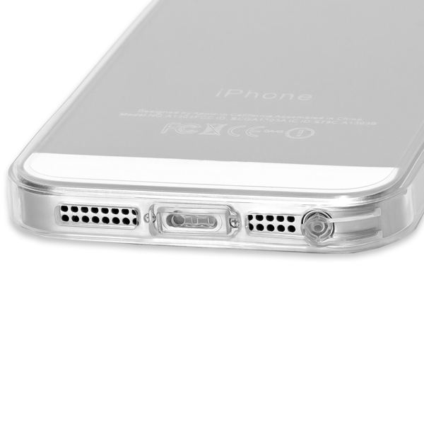 NALIA Handyhülle kompatibel mit iPhone SE 5 5S, Durchsichtiges Slim Silikon Case mit Transparenter Rückseite & Bumper, Crystal Schutz-Hülle Etui Dünn Handy-Tasche Smart-Phone Back-Cover - Transparent – Bild 5
