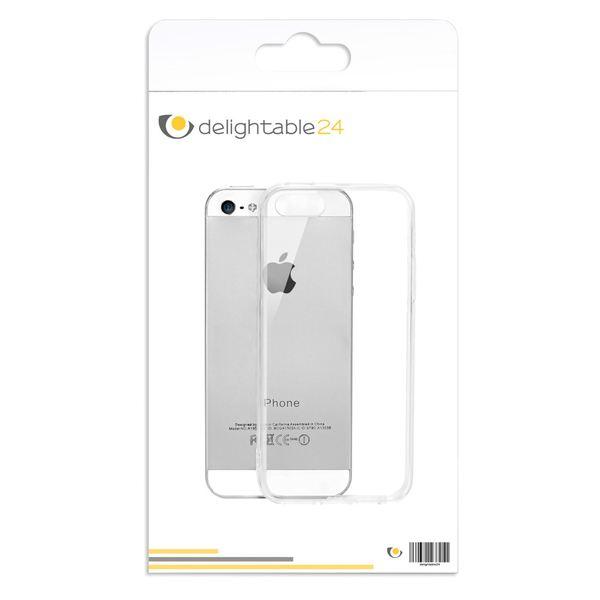 NALIA Handyhülle kompatibel mit iPhone SE 5 5S, Durchsichtiges Slim Silikon Case mit Transparenter Rückseite & Bumper, Crystal Schutz-Hülle Etui Dünn Handy-Tasche Smart-Phone Back-Cover - Transparent – Bild 9