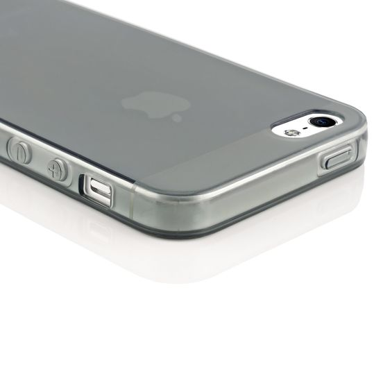 iPhone 5 5S SE Hülle Handyhülle von NICA, Ultra-Slim Silikon Case Cover Schutzhülle Dünn Durchsichtig, Handy-Tasche Backcover Transparent Bumper für Apple iPhone SE 5S 5 - Grau Transparent – Bild 3