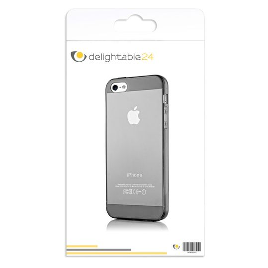 iPhone 5 5S SE Hülle Handyhülle von NICA, Ultra-Slim Silikon Case Cover Schutzhülle Dünn Durchsichtig, Handy-Tasche Backcover Transparent Bumper für Apple iPhone SE 5S 5 - Grau Transparent – Bild 8