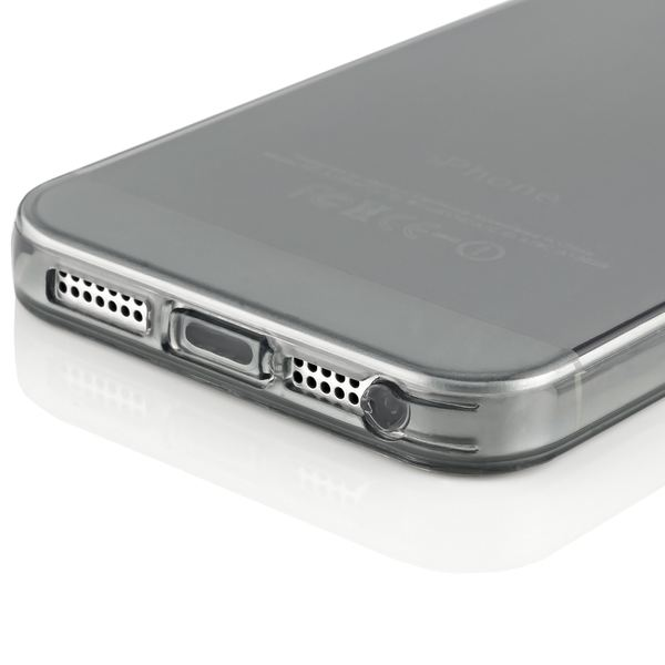 NALIA Handyhülle kompatibel mit iPhone 5 5S SE, Ultra-Slim Silikon Case Cover Schutzhülle Dünn Durchsichtig, Handy-Tasche Telefon-Schale Skin Back-Cover Etui Smart-Phone Bumper - Grau Transparent – Bild 4
