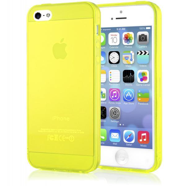 NALIA Handyhülle kompatibel mit iPhone 5 5S SE, Ultra-Slim Silikon Case Cover Schutzhülle Dünn Durchsichtig, Handy-Tasche Telefon-Schale Skin Back-Cover Etui Smart-Phone Bumper - Gelb Transparent – Bild 1