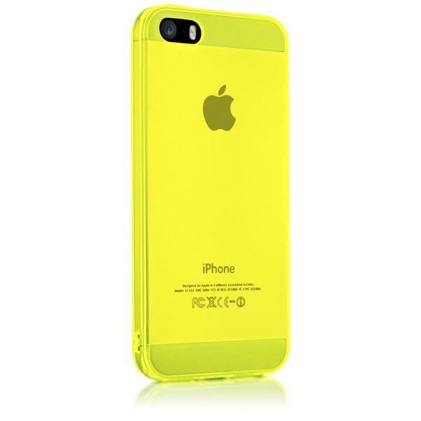 NALIA Handyhülle kompatibel mit iPhone 5 5S SE, Ultra-Slim Silikon Case Cover Schutzhülle Dünn Durchsichtig, Handy-Tasche Telefon-Schale Skin Back-Cover Etui Smart-Phone Bumper - Gelb Transparent – Bild 5