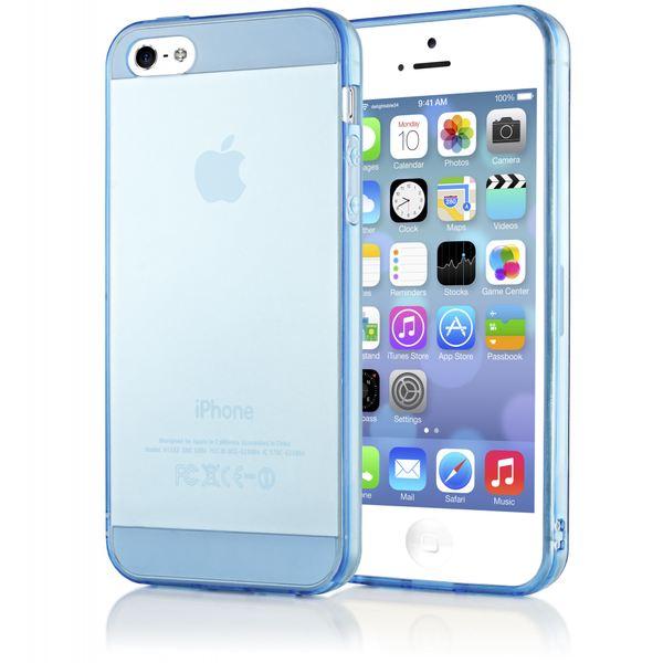 NALIA Handyhülle kompatibel mit iPhone 5 5S SE, Ultra-Slim Silikon Case Cover Schutzhülle Dünn Durchsichtig, Handy-Tasche Telefon-Schale Skin Back-Cover Etui Smart-Phone Bumper - Blau Transparent – Bild 1
