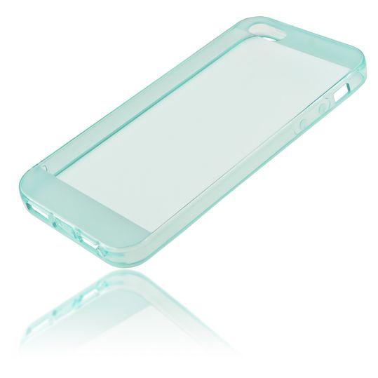 iPhone 5 5S SE Hülle Handyhülle von NICA, Ultra-Slim Silikon Case Cover Schutzhülle Dünn Durchsichtig, Handy-Tasche Backcover Transparent Bumper für Apple iPhone SE 5S 5 - Türkis Transparent – Bild 2