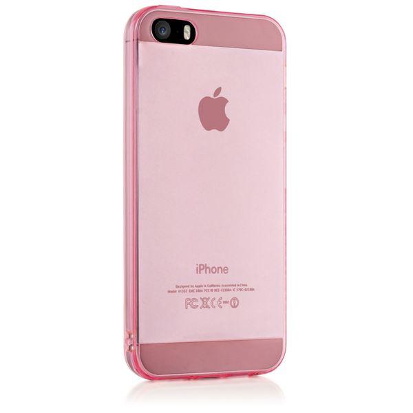 NALIA Handyhülle kompatibel mit iPhone 5 5S SE, Ultra-Slim Silikon Case Cover Schutzhülle Dünn Durchsichtig, Handy-Tasche Telefon-Schale Skin Back-Cover Etui Smart-Phone Bumper - Pink Transparent – Bild 5
