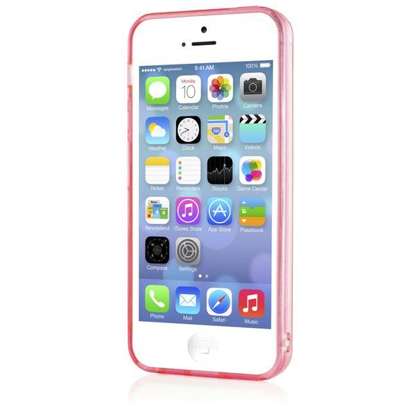 NALIA Handyhülle kompatibel mit iPhone 5 5S SE, Ultra-Slim Silikon Case Cover Schutzhülle Dünn Durchsichtig, Handy-Tasche Telefon-Schale Skin Back-Cover Etui Smart-Phone Bumper - Pink Transparent – Bild 7