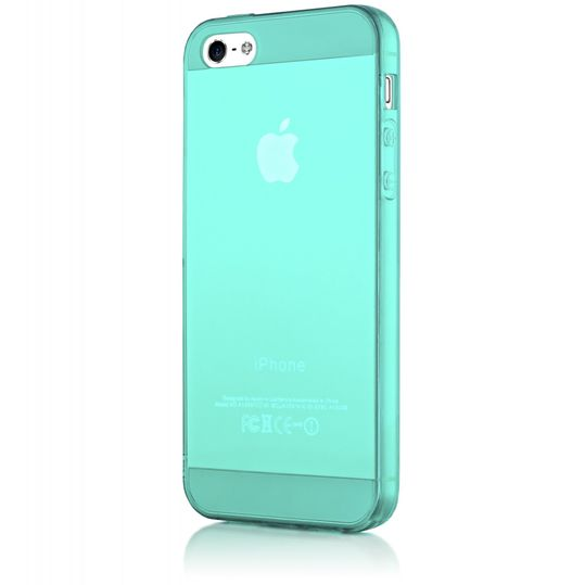 iPhone 5 5S SE Hülle Handyhülle von NICA, Ultra-Slim Silikon Case Cover Schutzhülle Dünn Durchsichtig, Handy-Tasche Backcover Transparent Bumper für Apple iPhone SE 5S 5 - Türkis / Grün Transparent – Bild 5
