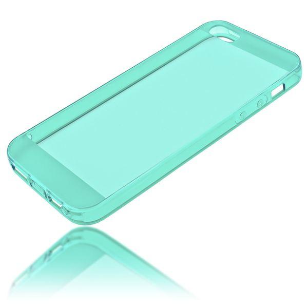 NALIA Handyhülle kompatibel mit iPhone 5 5S SE, Ultra-Slim Silikon Case Cover Schutzhülle Dünn Durchsichtig, Handy-Tasche Telefon-Schale Skin Back-Cover Smart-Phone Bumper - Türkis / Grün Transparent – Bild 2