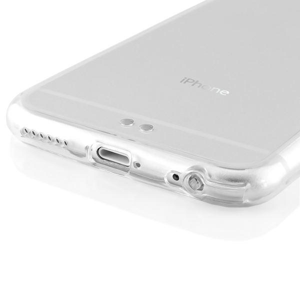 NALIA Handyhülle iPhone 6 6S, Durchsichtiges Slim Silikon Case mit Transparenter Rückseite & Bumper, Dünne Schutzhülle Handy-Tasche Back-Cover für Apple iPhone 6S 6 - Transparent / Grün – Bild 4