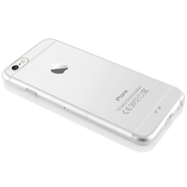 NALIA Handyhülle iPhone 6 6S, Durchsichtiges Slim Silikon Case mit Transparenter Rückseite & Bumper, Dünne Schutzhülle Handy-Tasche Back-Cover für Apple iPhone 6S 6 - Transparent / Grün – Bild 5