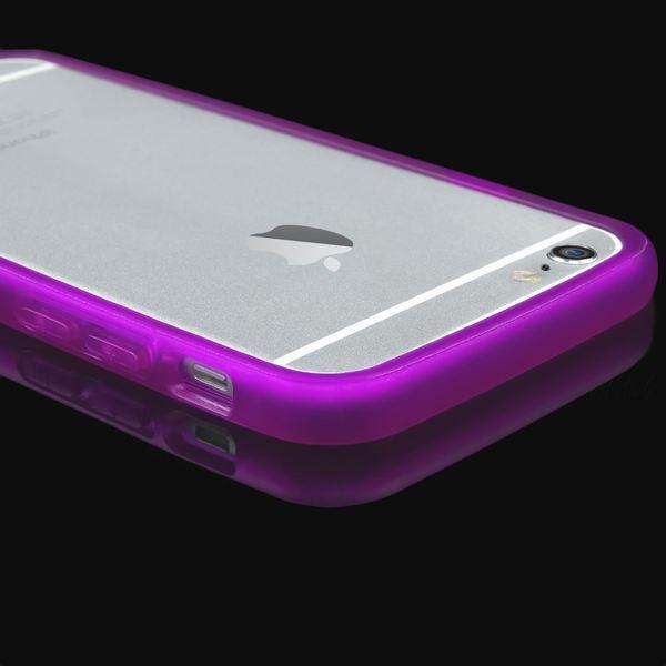 NALIA Bumper iPhone 6 6S, Dünner Rutschfester Silikon Rahmen Soft & Ultra-Slim Protector, Stoßfester Rugged Phone TPU Gel Gummi Schutz-Rand für Apple iPhone 6 6S Smartphone – Bild 4
