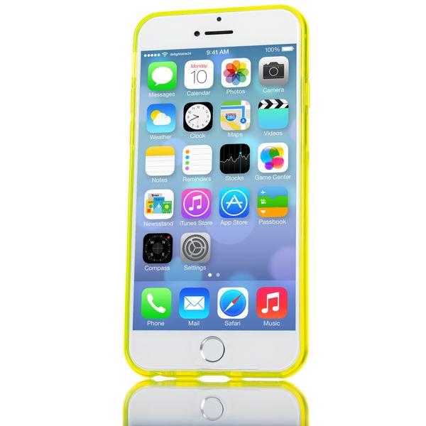 NALIA Handyhülle kompatibel mit iPhone 6 6S, Ultra-Slim Silikon Case Crystal Schutz-Hülle Dünn Durchsichtig, Handy-Tasche Telefon-Schale Back-Cover Skin Thin-Fit Smart-Phone Bumper - Gelb Transparent – Bild 4
