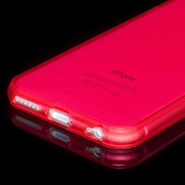 NALIA Handyhülle kompatibel mit iPhone 6 6S, Ultra-Slim Silikon Case Crystal Schutz-Hülle Dünn Durchsichtig, Handy-Tasche Telefon-Schale Back-Cover Skin Thin-Fit Smart-Phone Bumper - Rot Transparent – Bild 4