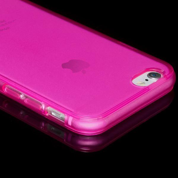 NALIA Handyhülle kompatibel mit iPhone 6 6S, Ultra-Slim Silikon Case Crystal Schutz-Hülle Dünn Durchsichtig, Handy-Tasche Telefon-Schale Back-Cover Skin Thin-Fit Smart-Phone Bumper - Pink Transparent – Bild 3
