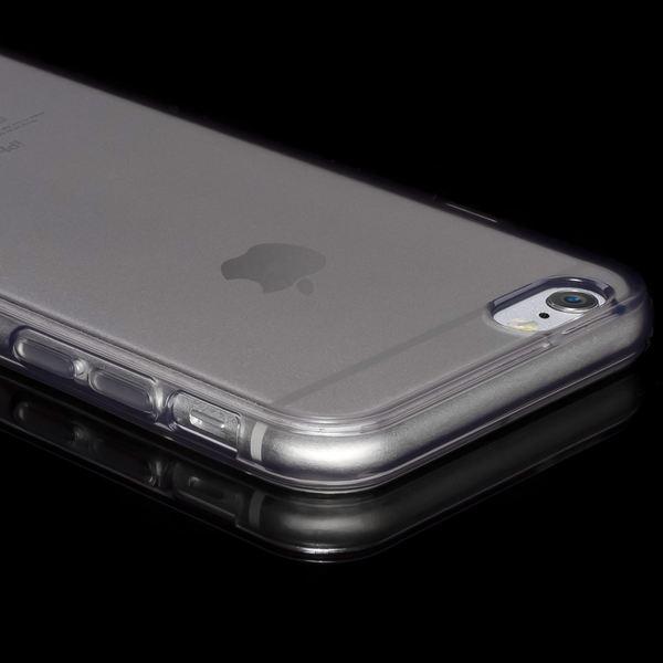 NALIA Handyhülle kompatibel mit iPhone 6 6S, Ultra-Slim Silikon Case Crystal Schutz-Hülle Dünn Durchsichtig, Handy-Tasche Telefon-Schale Back-Cover Skin Thin-Fit Smart-Phone Bumper - Grau Transparent – Bild 3