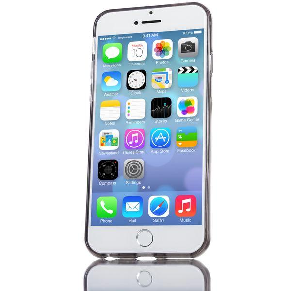 NALIA Handyhülle kompatibel mit iPhone 6 6S, Ultra-Slim Silikon Case Crystal Schutz-Hülle Dünn Durchsichtig, Handy-Tasche Telefon-Schale Back-Cover Skin Thin-Fit Smart-Phone Bumper - Grau Transparent – Bild 6