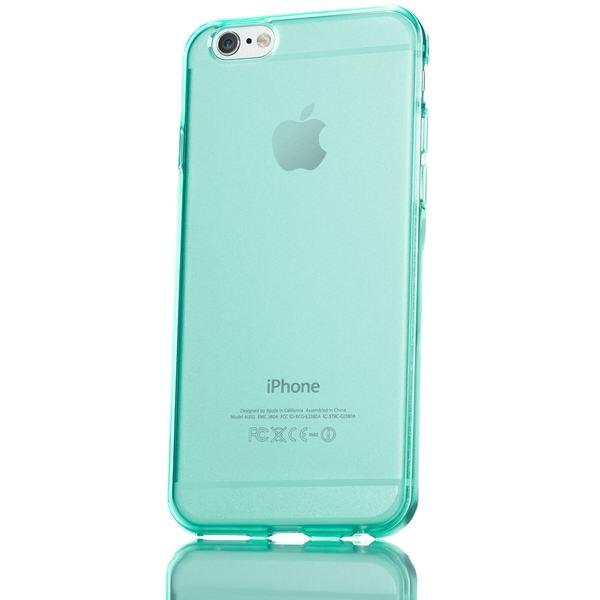 NALIA Handyhülle kompatibel mit iPhone 6 6S, Ultra-Slim Silikon Case Crystal Schutz-Hülle Dünn Durchsichtig, Handy-Tasche Telefon-Schale Back-Cover Skin Thin Smart-Phone Bumper - Türkis Transparent – Bild 5
