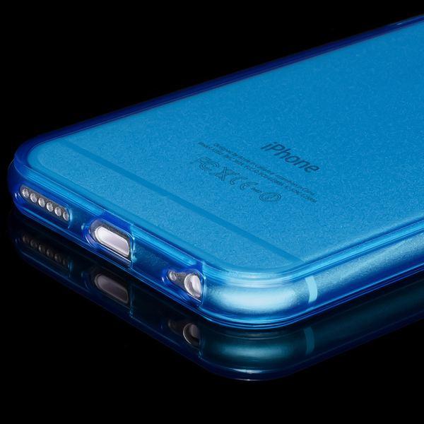 NALIA Handyhülle kompatibel mit iPhone 6 6S, Ultra-Slim Silikon Case Crystal Schutz-Hülle Dünn Durchsichtig, Handy-Tasche Telefon-Schale Back-Cover Skin Thin-Fit Smart-Phone Bumper - Blau Transparent – Bild 4