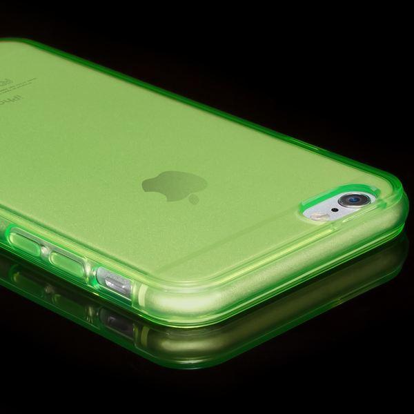 NALIA Handyhülle kompatibel mit iPhone 6 6S, Ultra-Slim Silikon Case Crystal Schutz-Hülle Dünn Durchsichtig, Handy-Tasche Telefon-Schale Back-Cover Skin Thin-Fit Smart-Phone Bumper - Grün Transparent – Bild 3