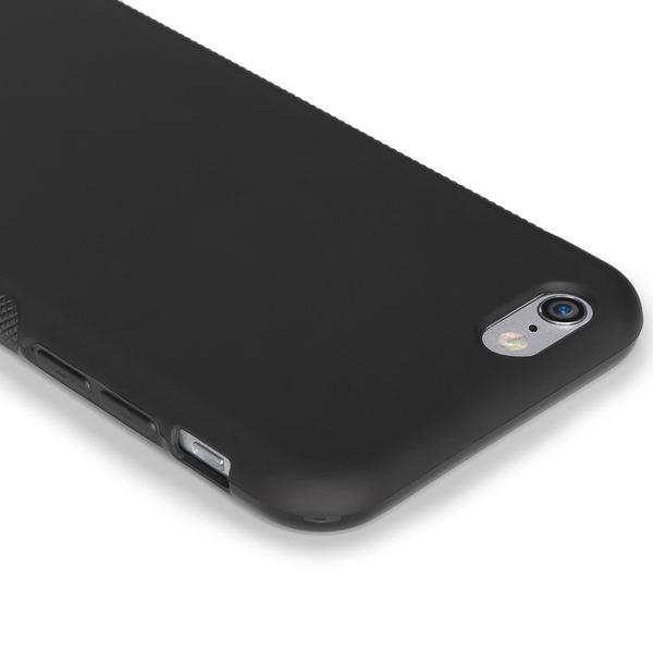 NALIA Handyhülle kompatibel mit iPhone 6 6S, Ultra-Slim Silikon Case Cover Gummihülle, Matte Anti-Rutsch Schutz-Hülle Dünn, Etui Handy-Tasche Telefon-Schale Back-Cover Smart-Phone Bumper - Schwarz – Bild 3