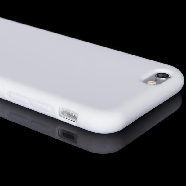 NALIA Handyhülle kompatibel mit iPhone 6 6S, Ultra-Slim Silikon Case Cover Gummihülle, Matte Anti-Rutsch Schutz-Hülle Dünn, Etui Handy-Tasche Telefon-Schale Thin Back-Cover Smart-Phone Bumper - Weiß – Bild 3