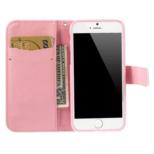 NALIA Handyhülle kompatibel mit iPhone 6 6S, Slim Flip-Case Kunst-Leder Vegan, Dünne Etui Schutz-Hülle Vorne Hinten Handy-Tasche Rundum Cover, Thin Wallet Smart-Phone Bumper - Pretty Roses Edition – Bild 6