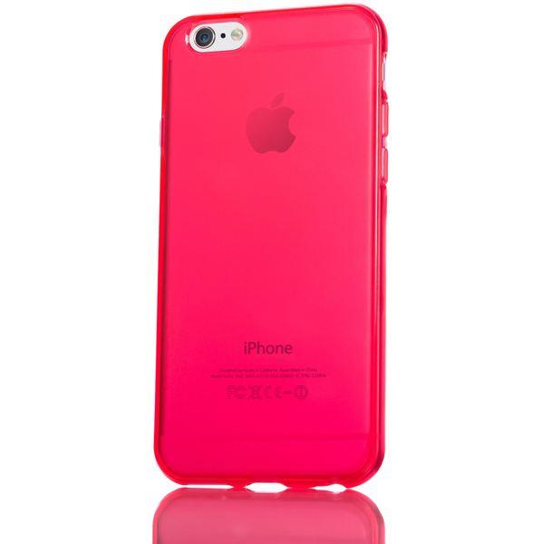 NALIA Handyhülle kompatibel mit iPhone 6 Plus 6S Plus, Ultra-Slim Silikon Case Cover Crystal Schutz-Hülle Dünn Durchsichtig, Etui Handy-Tasche Back-Cover Transparent Phone Bumper - Rot Transparent – Bild 5