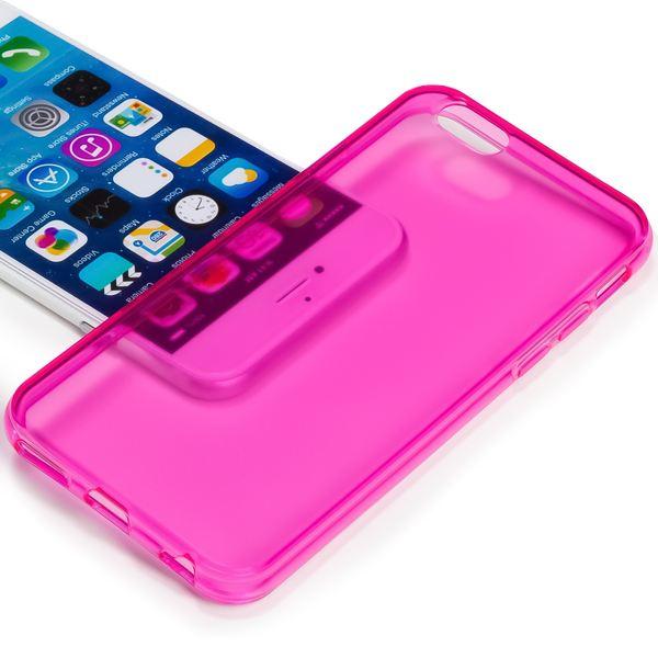 NALIA Handyhülle kompatibel mit iPhone 6 Plus 6S Plus, Ultra-Slim Silikon Case Cover Crystal Schutz-Hülle Dünn Durchsichtig, Etui Handy-Tasche Back-Cover Transparent Phone Bumper - Pink Transparent – Bild 2