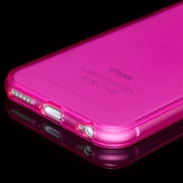 NALIA Handyhülle kompatibel mit iPhone 6 Plus 6S Plus, Ultra-Slim Silikon Case Cover Crystal Schutz-Hülle Dünn Durchsichtig, Etui Handy-Tasche Back-Cover Transparent Phone Bumper - Pink Transparent – Bild 4
