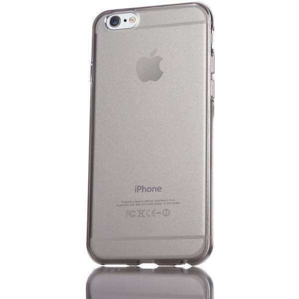 NALIA Handyhülle kompatibel mit iPhone 6 Plus 6S Plus, Ultra-Slim Silikon Case Cover Crystal Schutz-Hülle Dünn Durchsichtig, Etui Handy-Tasche Back-Cover Transparent Phone Bumper - Grau Transparent – Bild 5