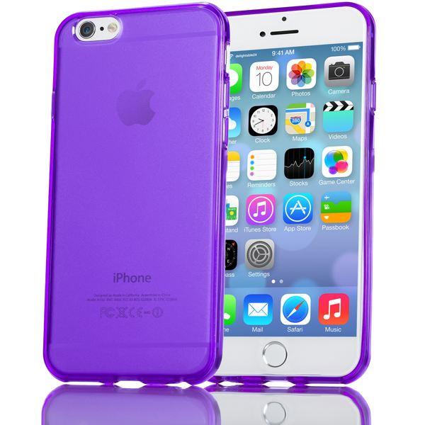 NALIA Handyhülle kompatibel mit iPhone 6 Plus 6S Plus, Ultra-Slim Silikon Case Cover Crystal Schutz-Hülle Dünn Durchsichtig, Etui Handy-Tasche Back-Cover Transparent Phone Bumper - Lila Transparent – Bild 1
