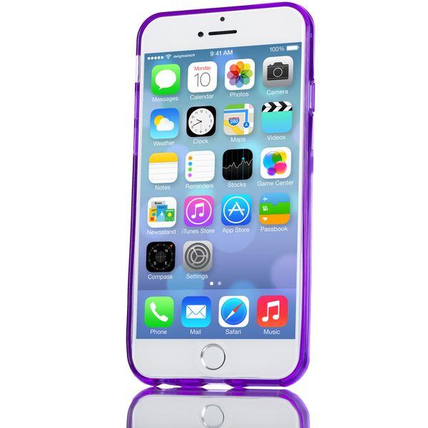 NALIA Handyhülle kompatibel mit iPhone 6 Plus 6S Plus, Ultra-Slim Silikon Case Cover Crystal Schutz-Hülle Dünn Durchsichtig, Etui Handy-Tasche Back-Cover Transparent Phone Bumper - Lila Transparent – Bild 6