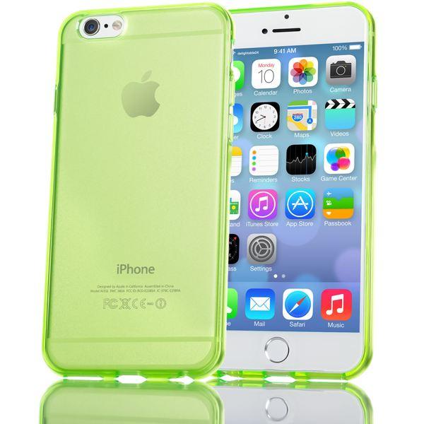 NALIA Handyhülle kompatibel mit iPhone 6 Plus 6S Plus, Ultra-Slim Silikon Case Cover Crystal Schutz-Hülle Dünn Durchsichtig, Etui Handy-Tasche Back-Cover Transparent Phone Bumper - Grün Transparent – Bild 1