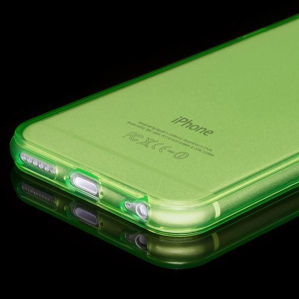 NALIA Handyhülle kompatibel mit iPhone 6 Plus 6S Plus, Ultra-Slim Silikon Case Cover Crystal Schutz-Hülle Dünn Durchsichtig, Etui Handy-Tasche Back-Cover Transparent Phone Bumper - Grün Transparent – Bild 4