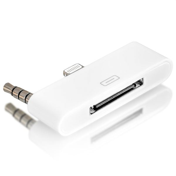 NALIA Adapter Audio Stecker 30-pin zu 8-pin, alter Anschluss zu neuem Anschluss für iPhone SE 5 5S 5C iPod Touch (5.te Generation) iPad (4.te Generation) iPad Mini - Weiß – Bild 4