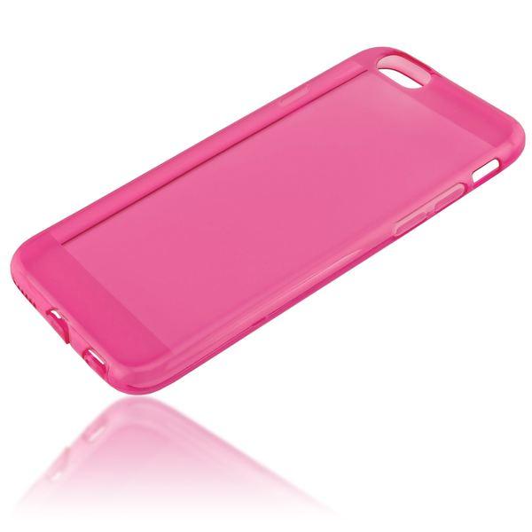 NALIA Handyhülle kompatibel mit iPhone 6 6S, Ultra-Slim Silikon Case Crystal Schutz-Hülle Dünn Durchsichtig, Handy-Tasche Etui Telefon-Schale Back-Cover Thin-Fit Smart-Phone Bumper - Pink Transparent – Bild 2