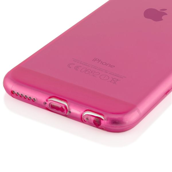 NALIA Handyhülle kompatibel mit iPhone 6 6S, Ultra-Slim Silikon Case Crystal Schutz-Hülle Dünn Durchsichtig, Handy-Tasche Etui Telefon-Schale Back-Cover Thin-Fit Smart-Phone Bumper - Pink Transparent – Bild 4