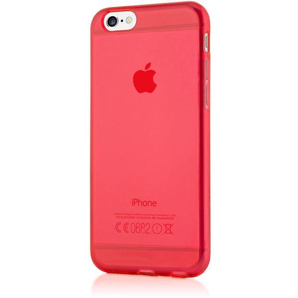 NALIA Handyhülle kompatibel mit iPhone 6 6S, Ultra-Slim Silikon Case Crystal Schutz-Hülle Dünn Durchsichtig, Handy-Tasche Etui Telefon-Schale Back-Cover Thin-Fit Smart-Phone Bumper - Rot Transparent – Bild 5