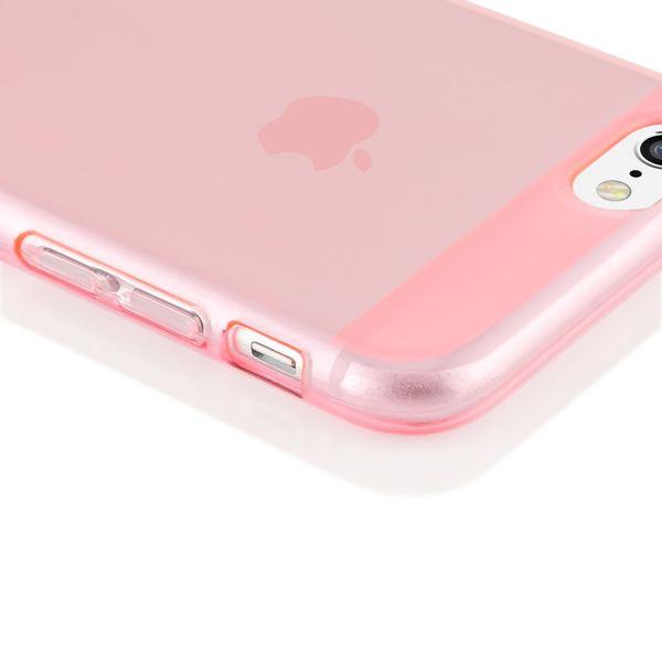 NALIA Handyhülle kompatibel mit iPhone 6 6S, Ultra-Slim Silikon Case Crystal Schutz-Hülle Dünn Durchsichtig, Handy-Tasche Telefon-Schale Back-Cover Thin Smart-Phone Bumper - Rosa / Pink Transparent – Bild 3