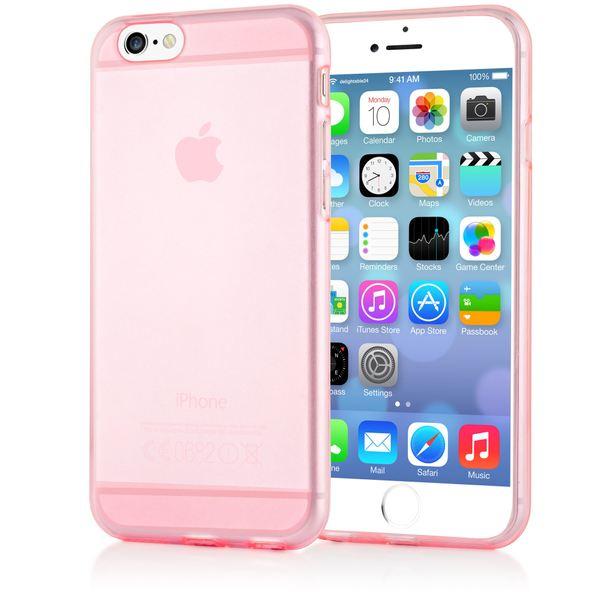 NALIA Handyhülle kompatibel mit iPhone 6 6S, Ultra-Slim Silikon Case Crystal Schutz-Hülle Dünn Durchsichtig, Handy-Tasche Telefon-Schale Back-Cover Thin Smart-Phone Bumper - Rosa / Pink Transparent – Bild 1