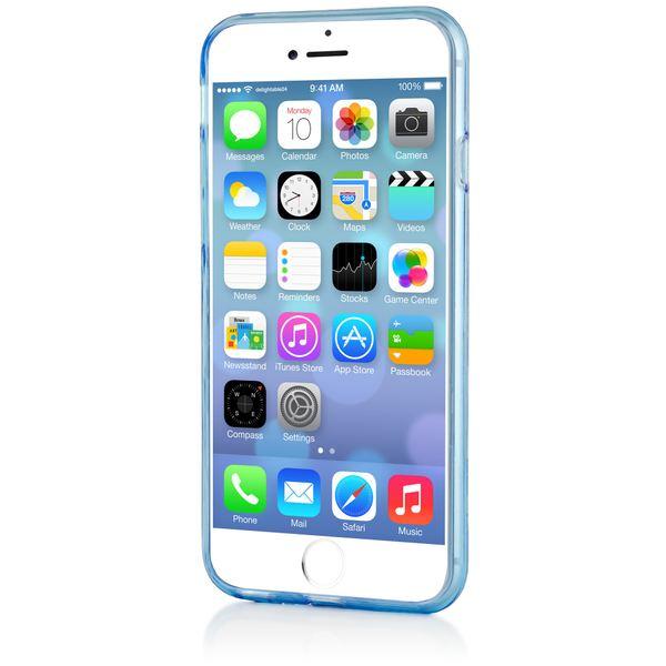 NALIA Handyhülle kompatibel mit iPhone 6 6S, Ultra-Slim Silikon Case Crystal Schutz-Hülle Dünn Durchsichtig, Handy-Tasche Etui Telefon-Schale Back-Cover Thin-Fit Smart-Phone Bumper - Blau Transparent – Bild 6