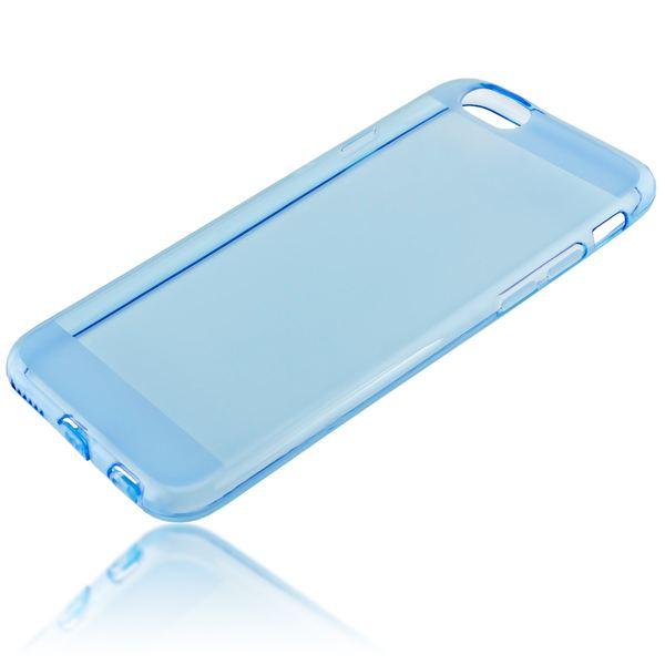 NALIA Handyhülle kompatibel mit iPhone 6 6S, Ultra-Slim Silikon Case Crystal Schutz-Hülle Dünn Durchsichtig, Handy-Tasche Etui Telefon-Schale Back-Cover Thin-Fit Smart-Phone Bumper - Blau Transparent – Bild 2